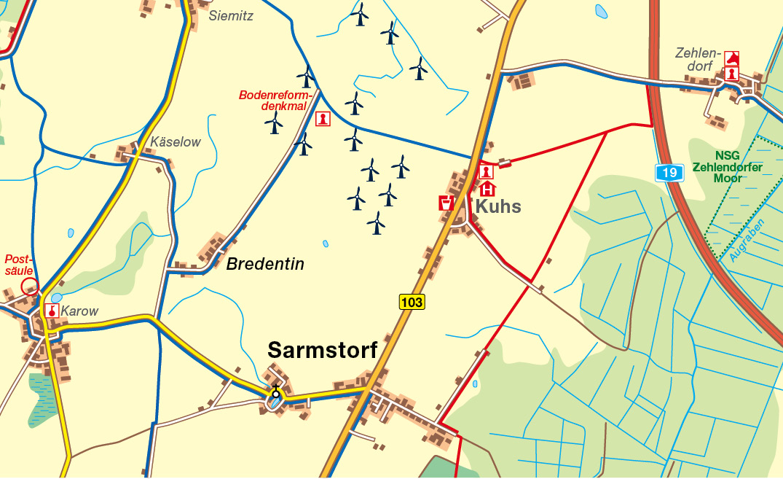 Güstrow Karte.Amt Güstrow Land Karte Sarmstorf